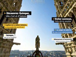 Couverture du guide 2018 de l'Office de Tourisme de Quimper Cornouaille