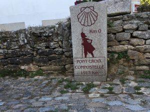 Point de départ du chemin de Saint Jacques de Compostelle à Pont Croix