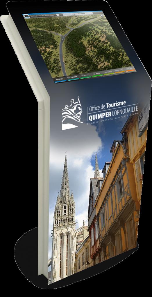 Borne interactie tactile 3D, laissez-vous conter Quimper