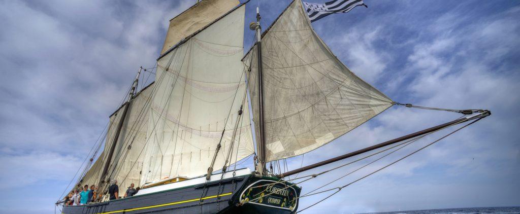 bateau Corentin, Lougre de l'Odet Quimper
