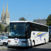 Stationnements pour les autocars devant l'Office de Tourisme, place de la résistance de Quimper