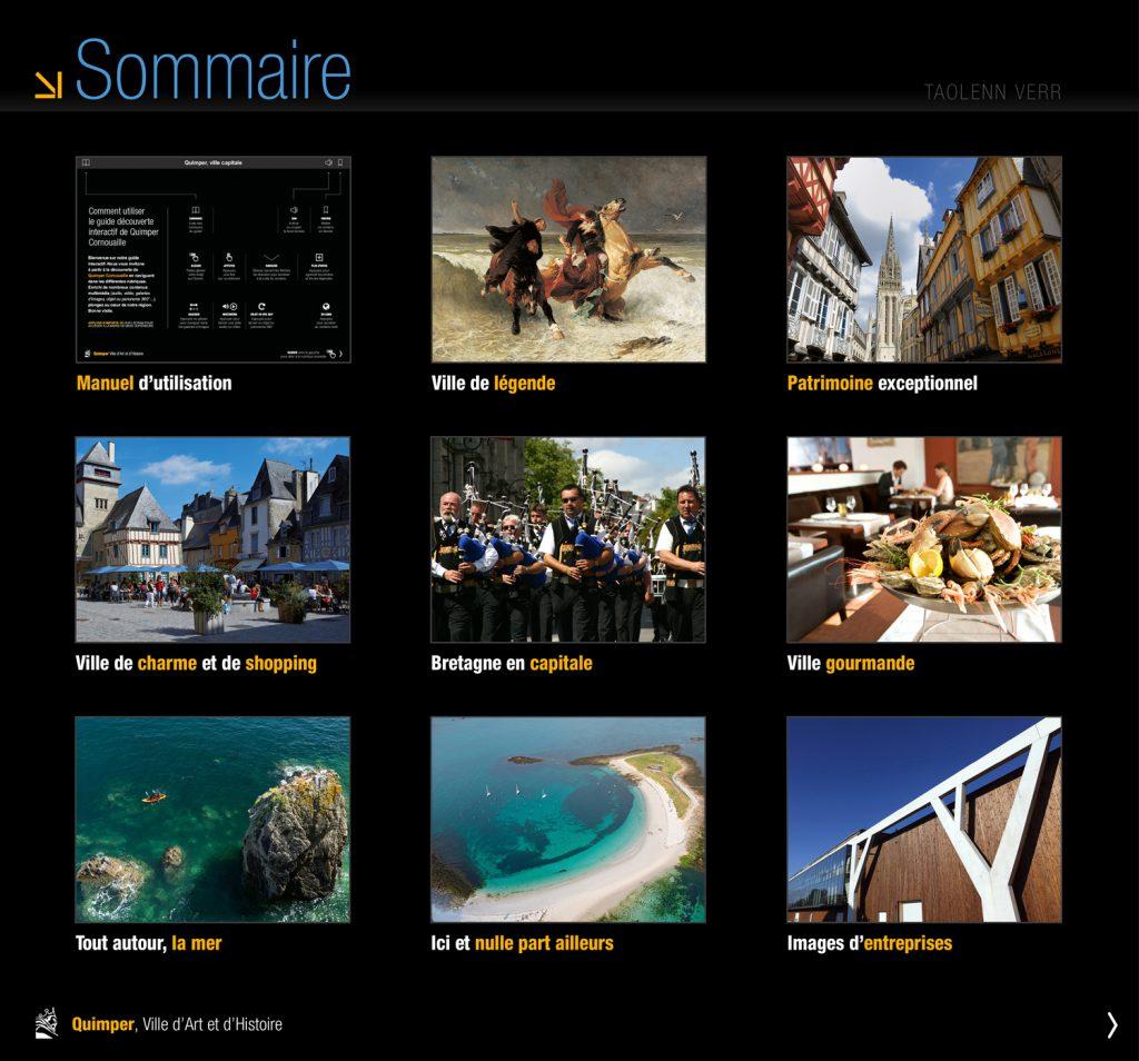 """iMagazine """"Quimper, ville capitale"""" neuf grands thèmes à découvrir"""