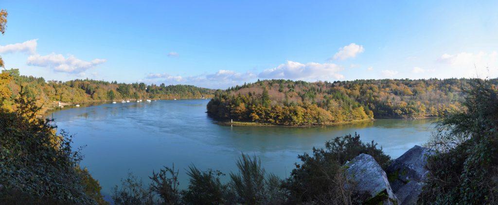 La rivière Odet, les vire-courts à Plomelin, crédit photo : François Pouzet